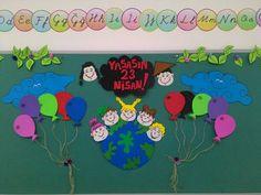 2e Nisan Çocuk bayramı sınıf pano çalışması