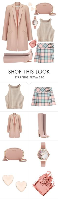 """Heavenly Blushed"" by ayiarundhati ❤ liked on Polyvore featuring Miss Selfridge, Valentino, MICHAEL Michael Kors, Olivia Burton, Ted Baker and Bobbi Brown Cosmetics"