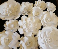 Large White Paper Flowers Extra Large Paper Flower by PoshStudios