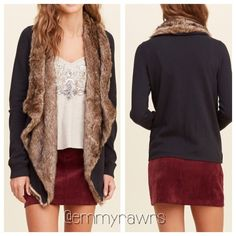 • New •The CHARLENE Sherpa Lined Cardigan Super soft Sherpa lined cardigan. Features a cascade opening and banded cuffs. Can be dressed up or down! Super versatile! Material: faux fur - 65% acrylic, 35% polyester. Rest of cardigan is 60% cotton, 40% polyester. Fits true to size. AVAILABLE SIZES • Small, Medium , Large Tops