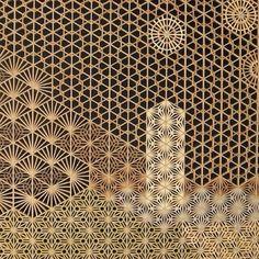 theswallowtailsociety:  #midnightinspiration #woodscreens Screen Design, Wall Design, Book Design, Lattice Screen, Metal Screen, Japanese Joinery, Japanese Woodworking, Wood Patterns, Textures Patterns