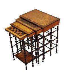 Gillows quartetto tables, C1810.