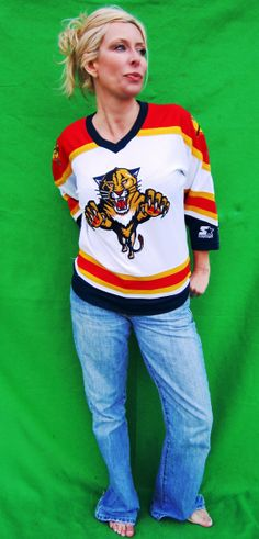 0b0310d1356 Working the Cats Jersey and the light wash jeans. Official Florida Panthers
