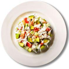 Crab, avocados, cucumbers Salad