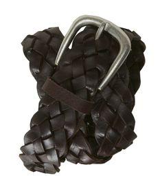 Braided Leather Belt - Aeropostale