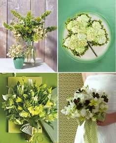 Green Wedding Flowers. View more tips & ideas on our Facebook Page : https://www.facebook.com/BoutiqueBridalParty