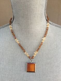 Silk pendant silk necklace textile necklace silk jewelry bridal silk pendant silk necklace handmade jewelry boho chic apricot easter mothers day gifts negle Image collections