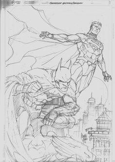 Sketch Commission Batman Superman By