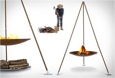 TRIPEE OUTDOOR FIREPLACE | BY AK47 DESIGN