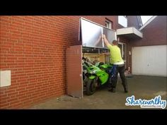 The Motorcycle Garage Protection From Weather, Teft and Vandalism - YouTube