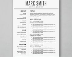 Resume Layout Microsoft Word Simple Modern Resume Template With Creative Design #resume #donwload .