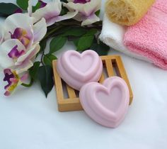 Valentines Day Heart Shaped Handmade Castile Soap Pink