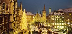 There could be no better introduction to the magic of Germany at Christmas than Munich's famous Christmas market, or Christkindlesmarkt, in the Marienplatz New York City Tours, German Christmas Markets, Good Introduction, Hotel Packages, Walking Tour, Munich, Old Town, Barcelona Cathedral, Things To Do