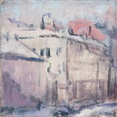 Ellen Thesleff (Finnish artist) 1869 - 1952 Näkymä Helsingistä (View from… Lawrence Lee, Female Painters, Global Art, City Art, Hanging Art, Helsinki, Art Market, Sculpture Art, Art History