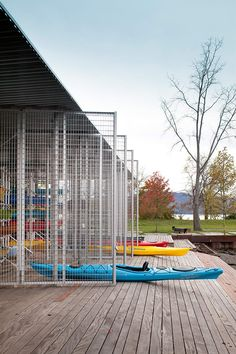 ARO Architecture Research Office, James Ewing · Kayak Pavilion at Long Dock Park