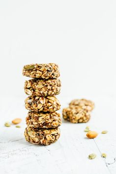 Eat like a bird with these BIRD FOOD ENERGY BITES! Made with whole grain oats, nuts, seeds and dried fruit, these bites are a nutrient-rich treat perfect for on-the-go snacking. Food Energy, Energy Bites, Vegan Snacks, Healthy Snacks, Healthy Eating, Clean Eating, Vegan Sweets, Eating Well, Baby Food Recipes