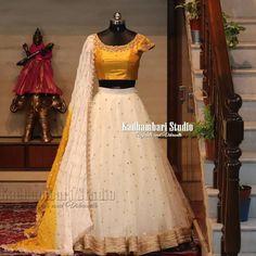 Lengha Blouse Designs, Wedding Saree Blouse Designs, Half Saree Designs, Blouse Designs Silk, Dress Neck Designs, Half Saree Lehenga, Lehenga Gown, Lehnga Dress, Lehenga Blouse