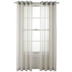 MarthaWindow™ Voile Grommet-Top Sheer Panel  found at @JCPenney