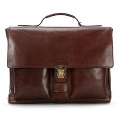 Sfoderata Luxe 15'' Briefcase with Laptop Compartment smooth cowhide brown