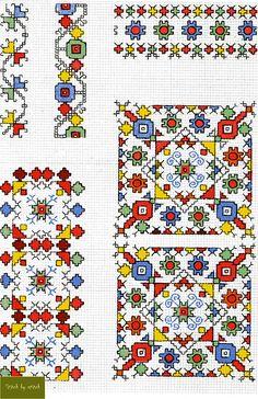 Cross Stitch Numbers, Cross Stitch Borders, Cross Stitch Charts, Cross Stitch Designs, Cross Stitching, Cross Stitch Patterns, Folk Embroidery, Cross Stitch Embroidery, Embroidery Patterns