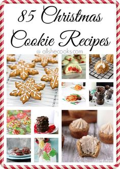 Whether you need a recipe for homemade gifts, cookie exchanges or Santa, we've rounded up 85 Christmas Cookie recipes to make your Holidays even sweeter! (christmas treats to make cookie exchange) Christmas Snacks, Xmas Food, Christmas Cooking, Christmas Goodies, Christmas Candy, Christmas Parties, Galletas Cookies, Holiday Cookies, Cupcake Cookies