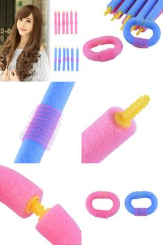 [Visit to Buy] 12pcs DIY Modeling Soft Hair Rollers Curlers Foam EPE Bendy hair roller curler Hair Care Freely Design Hairstyles Styling Tools #Advertisement