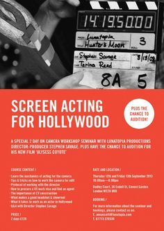 Coyote S, Master Class, Savage, Thursday, Acting, September, Friday, Hollywood, London
