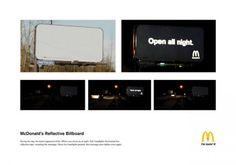 McDonalds reflective billboard