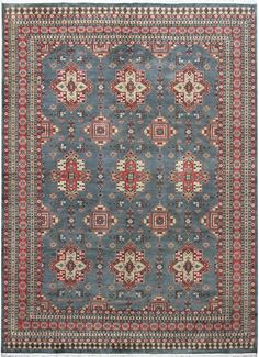 Very fine-quality Caucasian rug with soft lustrous wool pile and beautiful sheen.   http://www.alrug.com/4915