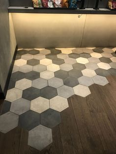 Shower Surround Kits Have More Benefits Than Traditional Bathroom Tiles Küchen Design, Floor Design, Tile Design, Hexagon Tiles, Traditional Bathroom, Kitchen Flooring, Interior Design Kitchen, Sweet Home, New Homes