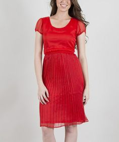 This Flame Amazement Scoop Neck Dress by Down East Basics is perfect! #zulilyfinds