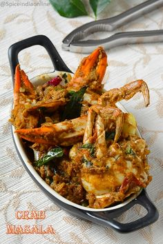 Nandu Masala- Crab Masala - Best Picture For dinner recipes For Your T - Crab Recipes, Salmon Recipes, Indian Food Recipes, Asian Recipes, Chicken Recipes, Crab Dishes, Seafood Dishes, Asian Seafood Recipe, Seafood Curry Recipe