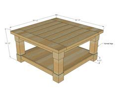Ana White | Build a Corona Coffee Table - Square | Free and Easy DIY Project and Furniture Plans