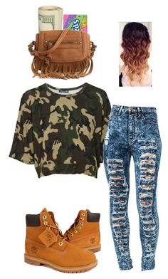 """""""Camo"""" by ctbrown ❤ liked on Polyvore featuring Timberland, River Island, Poppie Jones, women's clothing, women's fashion, women, female, woman, misses and juniors"""