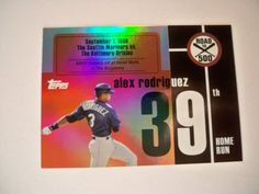 2007 Topps Alex Rodriguez Road to 500 HR #39 Yankees NM/MT
