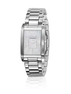 I love this Emporio Armani Super Slim watch Silver from House of Fraser Cute Watches, Watches For Men, Women's Watches, Emporio Armani Ladies Watches, Uk Fashion, Fashion Jewelry, Shops, Watch Brands, Stainless Steel Bracelet