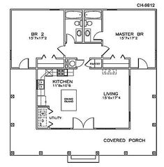 Southern Style House Plan 72317 with 2 Bed, 2 Bath First Floor Plan of Cottage Florida Southern House Plan 72317 Main Living Area: Southern House Plans, Tiny House Plans, Southern Homes, Southern Style, Small House Plans Under 1000 Sq Ft, 2 Bedroom House Plans, Southern Cottage, Tiny Cottage Floor Plans, 2 Bedroom Apartment Floor Plan