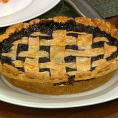 Blueberry pie  from The Chew.  Carla's recipe...still have not made but I am going to this weekend!