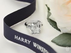 Rate this from 1 to Anniversary Rings Diamond Emerald Cut Halo Engagement Ring Anniversary Band Wedding Bands… Jackie Kennedy's Van Cleef and Emerald Cut Engagement, Engagement Ring Cuts, Harry Winston Engagement Rings, Luxury Engagement Rings, Solitaire Engagement, Wedding Engagement, Do It Yourself Fashion, Anniversary Jewelry, Ring Verlobung