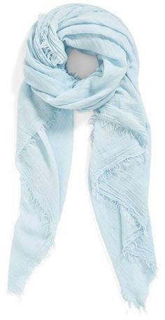 $21, Light Blue Scarf: Blanket Wrap by Collection XIIX. Sold by Nordstrom. Click for more info: http://lookastic.com/women/shop_items/120180/redirect