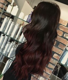 60 Best Ombre Hair Color Ideas for Blond Brown Red and Black Hair Ombre Hair C Brown Hair Dyed Red, Dark Red Hair With Brown, Black Hair Ombre, Ombre Blond, Best Ombre Hair, Dark Brown, Black To Red Hair, Brown To Red Ombre, Burgandy Ombre Hair