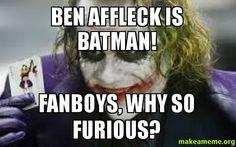 I don't want ben affleck no just no, I just can't' ben affleck as batman #ICan't