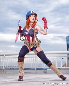 Stephanie Castro  as Captain America
