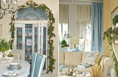 blue curtains against yellow walls Tiffany Blue Holiday Decor From Layla Grayce