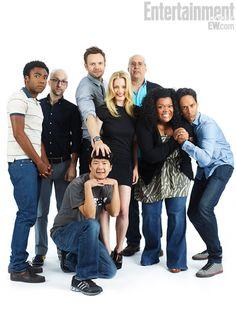 Community cast at EW Comic Con Photo Booth