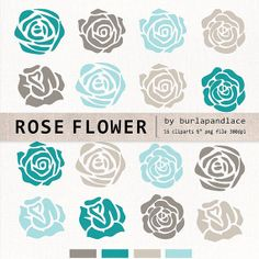Clipart flower cliparts rose flower clipart by 1burlapandlace, $4.99