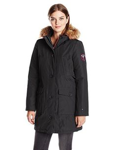 Tommy Hilfiger Womens Down Filled Parka Black XLarge >>> Read more reviews of the product by visiting the link on the image.(This is an Amazon affiliate link and I receive a commission for the sales)