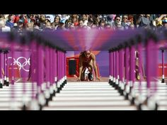 Lolo Jones (USA) in the starting blocks for the women's 100m hurdles heats