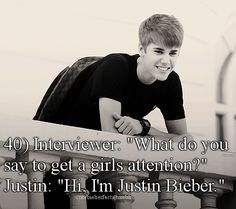 Oi... -_- i am not a justin beiber fan at all but i have nothing against him or his fans, hes just not my thing but this is too true aha