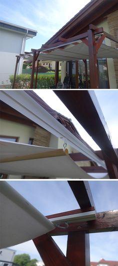 holzpergola schr g kombinierter sonnenschutz regenschutz kleiner vorgarten pinterest. Black Bedroom Furniture Sets. Home Design Ideas